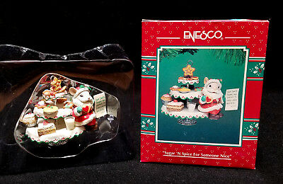 ENESCO ORNAMENT Mouse Santa SUGAR 'N SPICE for SOMEONE NICE NEW and treats