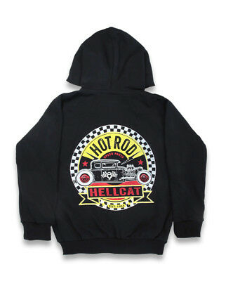 "NWT  Hotrod Hellcat ""Speedparts"" Black hot rod muscle car theme hoodie"