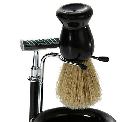2pcs Home Shaving Bowl + Shaving Brush Stand Beard Shaving Kit Set Tool Useful