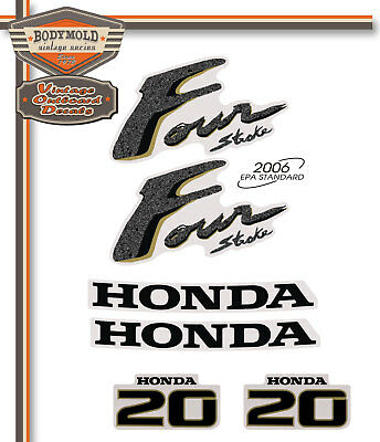 HONDA 20hp 4 Stroke decals/stickers  Quality Product