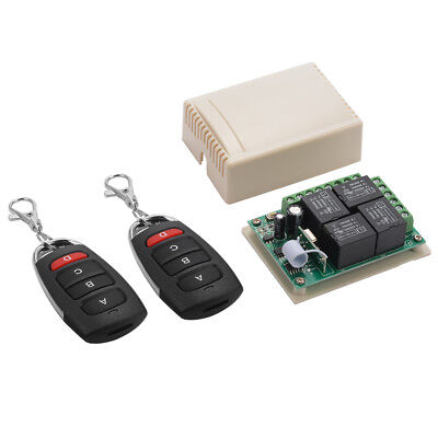 433Mhz Wireless Remote Control 4CH Relay Switch 2Transceiver  Receiver 12V LD942