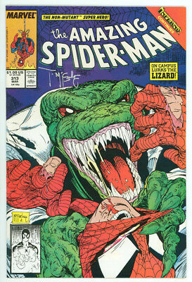 Amazing Spider-man #313 Signed Mcfarlane Marvel 1988