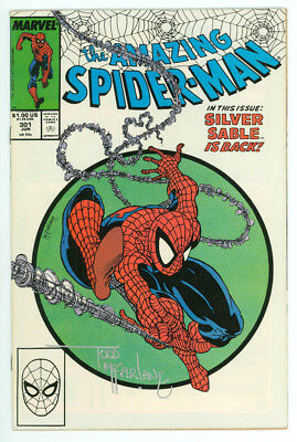 Amazing Spider-man #301 Signed Mcfarlane with COA Marvel 1988