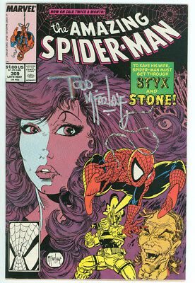 Amazing Spider-man #309 Signed Mcfarlane with COA Marvel 1988