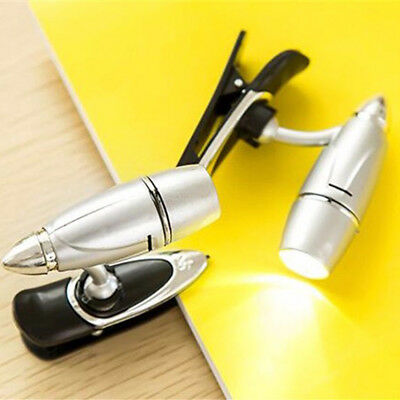 Portable Mini LED Clip Bullet Lamp Reading Book Light