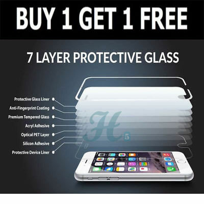 100% GENUINE TEMPERED GLASS FILM SCREEN PROTECTOR FOR APPLE iPhone 7 PLUS