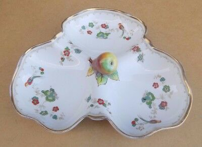 Vintage TUSCAN CHINA 3 Section Dish Decoarated with Birds and Flowers