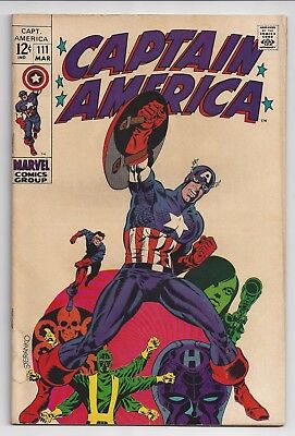 Captain America #111 (1969) FN. Steranko art! Classic Cover Beautiful!!