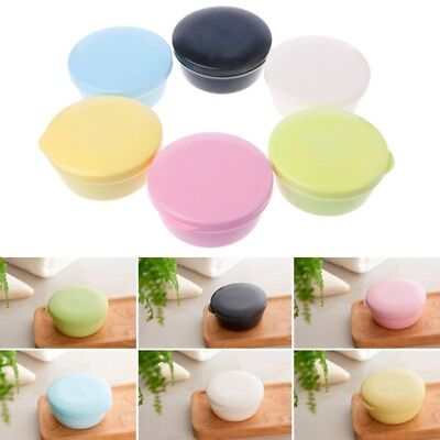 Portable Drain Layer Travel Washing Soap Box Case with Lid Seal Leak-proof Dish