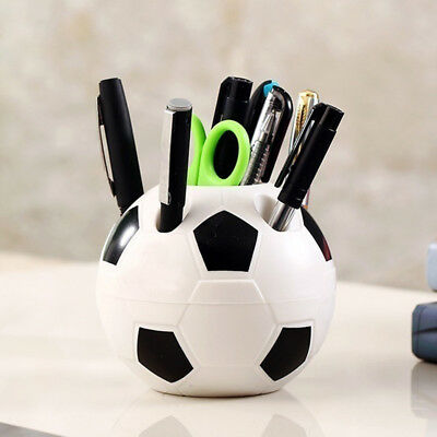 Makeup Brush Holder Pen Pencil Tidy Stationery Desk Football Container Faddish