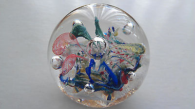A Pretty Colourful Paperweight. With Reflective Bubble In The Centre and sides.