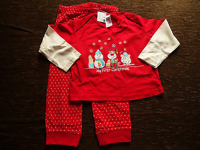 Christmas Outfit Pyjamas Top Trousers Tesco 18-24 Months New with Tags