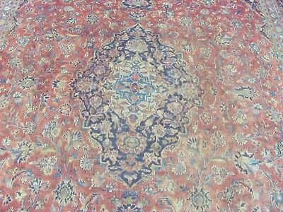 A FANTASTIC OLD HANDMADE KASHAN PERSIAN CARPET (398 x 295 cm)
