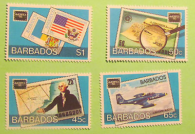 Barbados postage stamps Ameripex 1986 mint unmounted