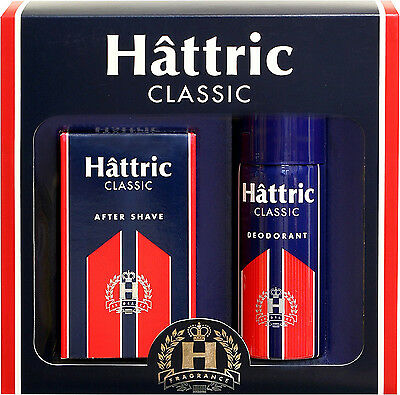 Hattric Classik After Shave+Deo in Geschenkverpackung 1x100ml+1x150ml``