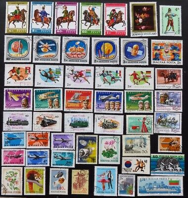 Hungary Stamp Collection Of 50 Different Used Stamps All Unhinged