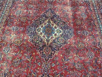 A MARVELLOUS OLD HANDMADE KASHAN PERSIAN CARPET (340 x 246 cm)