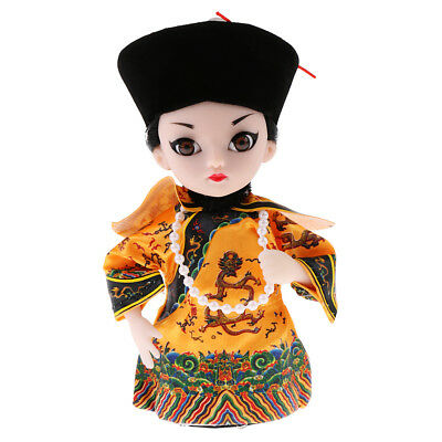 5'' Peking Opera Performer Mini Q Version Figurine Emperor of Qing Dynasty