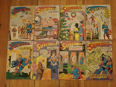*LI* DC Silver Age Comic Lot of 8 Superman Classic #163-214 Supergirl Luthor