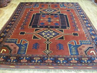AN OUTSTANDING OLD AFGHAN WOOL ON WOOL ORIENTAL CARPET (320 x 250 cm)