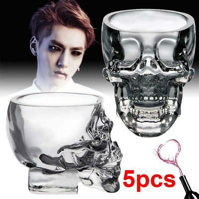 5pc Crystal Skull Head Shot Glass Red Wine Vodka Cup champagne Glass Ball Bar AC