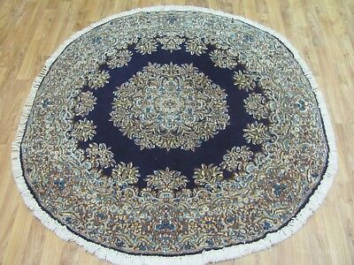 A FABULOUS OLD HANDMADE KERMAN PERSIAN CIRCLE RUG (144 x 144 cm)