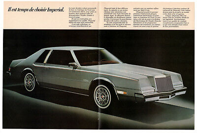 1981 CHRYSLER Imperial Vintage Original Print AD centerfold double sided french