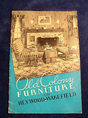 Old Colony Furniture Brochure 1937 Heywood Wakefield Gardner MA