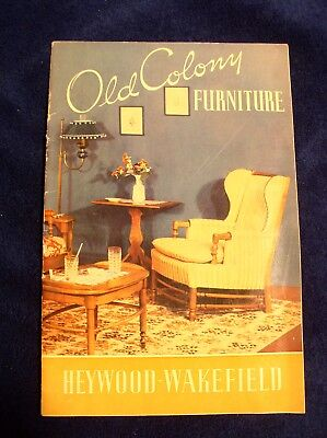 Old Colony Furniture Brochure 1938 Heywood Wakefield Gardner MA