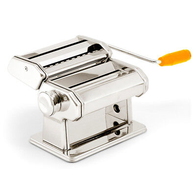 5X(U Pasta Maker Noodle Machine Spaghetti Clamp Fettuccine Roller Stainless Stee