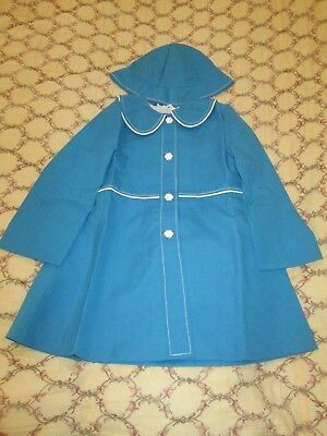 Childs NWT Retro/Vintage Dead Stock 70s Girls Coat/Mac & Hat approx age 4/5 yrs.