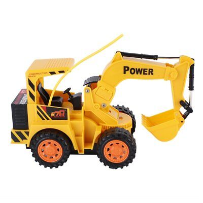 RC Remote Control Excavator Tractor Bulldozer Truck Toy Light Digger Small Car