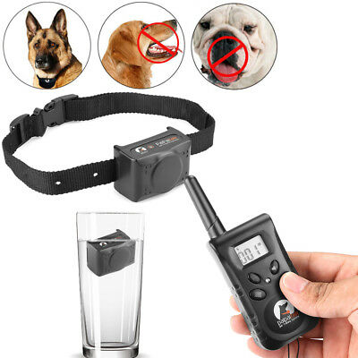 Waterproof Dog Training Collar Electric Shock Collar Rechargeable W/ LCD Remote