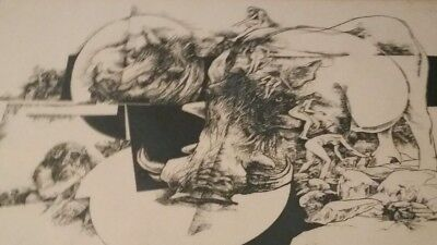 Listed Artist Jack Coughlin Etching Nudes Skulls Monkey Limited Edition  91/100