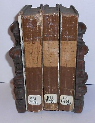 1812 RELIQUES of ANCIENT ENGLISH POETRY Lot of (3) Antique Books Volume 1, 2, 3