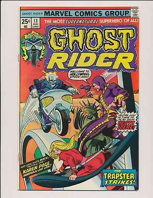 Marvel Comics Ghost Rider #13 1975 Trapster/karen Page App. Vf-Nm High Grade