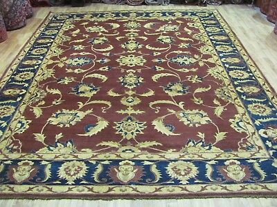 A WONDERFUL OLD HANDMADE ZIGLER MAHAL PERSIAN CARPET (360 x 274 cm)