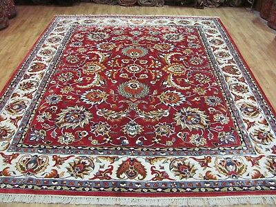 A MARVELLOUS OLD HANDMADE INDIAN ORIENTAL CARPET (310 x 242 cm)