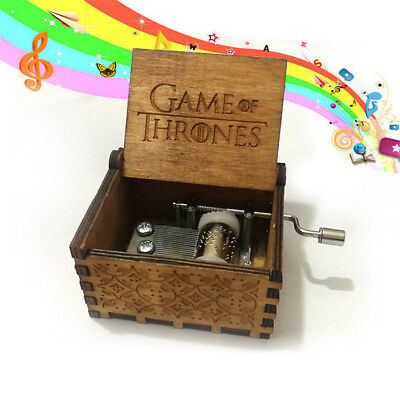 GAME OF THRONES Theme Box Engraved Wooden Music Box Crafts Kid Xmas Gifts Pro