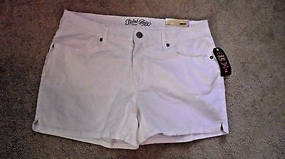 """Women Faded Glory Stretch Arctic White Chino Short*Inseam 4.5"""" You Choose Size!"""