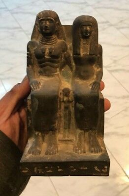 Antique Ancient Egyptian pair statue