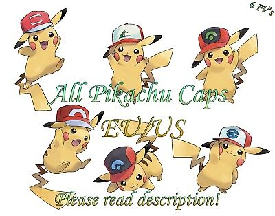 Pokemon Pikachu Pack Cap Hat EU/US Event 6 IV - Sun/Moon Ultra Sun/Ultra Moon