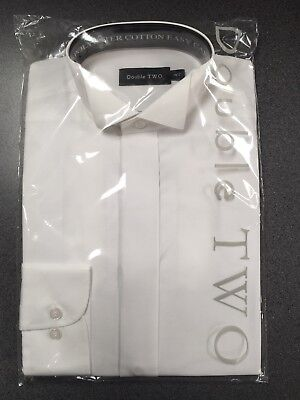 Brand new Men's White Wing Collar Shirts. Double Two with fly front.