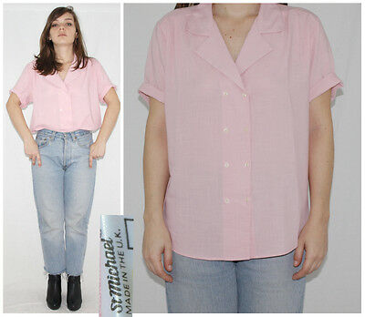 Vintage 80´s ST. MICHAEL blouse BLUSH shirt PAPERTHIN minimalist MADE IN UK