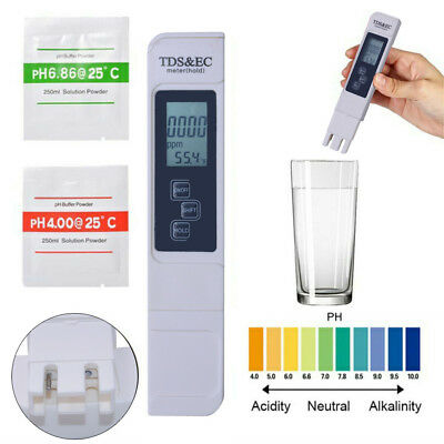 Portable 3 in 1 LCD Digital TDS EC PPM Water Quality Meter Tester Pen Home Tool
