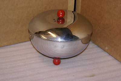 Vintage Retro Atomic Space Age Chrome Red Knob Deep Fryer