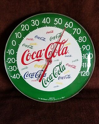 "70'S ERA'"" Tru-TEMP""Coca Cola Normal Rockwell Jumbo Dial Convex 12"" THERMOMETER"