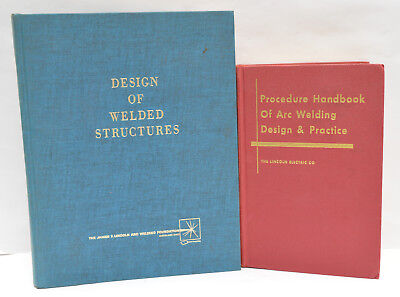 2 Vintage Welding Reference Books, Procedure Handbook of Arc Welding & Design of