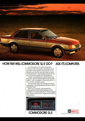 "1982 HOLDEN VH COMMODORE SLE AD A4 POSTER GLOSS PRINT LAMINATED 11.7""x8.3"""