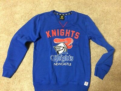 Newcastle Knights NRL Kid/Child Unisex Blue Red Supporter Home Jersey Size 14New